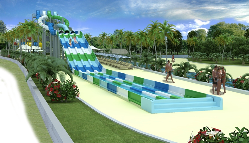 Polin Twister Racer waterslide at Aqualand Costa Adeje